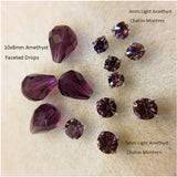 Faceted Drop Beads 10x8mm for Earrings (Pkg of 2)