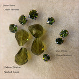 Faceted Drop Beads Glass 10x8mm for Earrings (Pkg of 6)