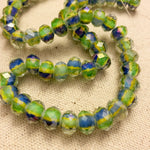 "Faceted Striped Bead Strands 14""- choose color"