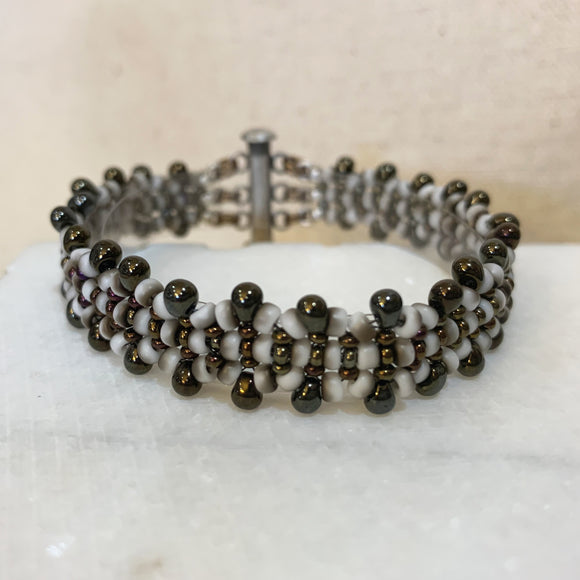 Seed Bead Project - MRAW Bracelet with Drops PDF tutorial & FREE video