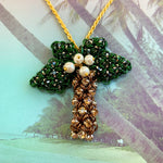 Japanese Palm Tree Rhinestone Pendant Kit & Video Class