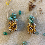 Japanese Pineapple Rhinestone Earring Kits