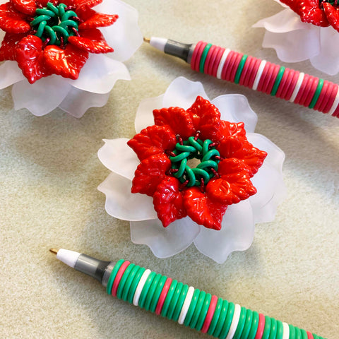 Flower Pen Poinsettia Kit - Ready to make