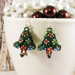 Earrings Puffy Christmas Tree Rhinestone Kit