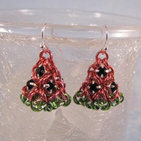 Puffy Watermelon Rhinestone Earrings Kit