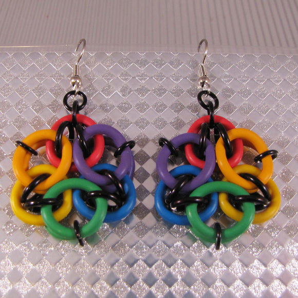 Acute Mandala Earrings Kit - Large Rainbows