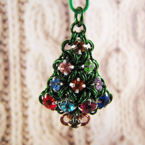 Charm Puffy Christmas Tree Rhinestone Kit - Green & Multi
