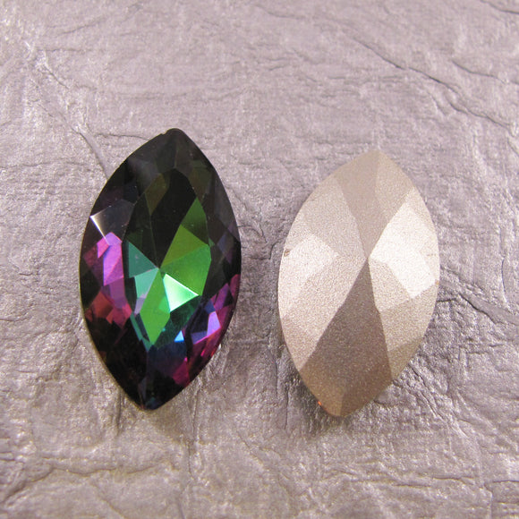 Pointed Back Rhinestone Navette 32mm x 17mm - choose color