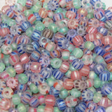 Striped Seed Beads 6/0 - Small Stripe