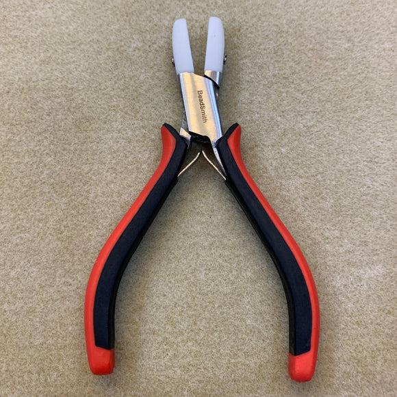 Super Fine Ergo Double Nylon Jaw Flat Nose Pliers Red