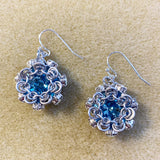 Japanese Simple Swarovski Rivoli & Rhinestone Earrings