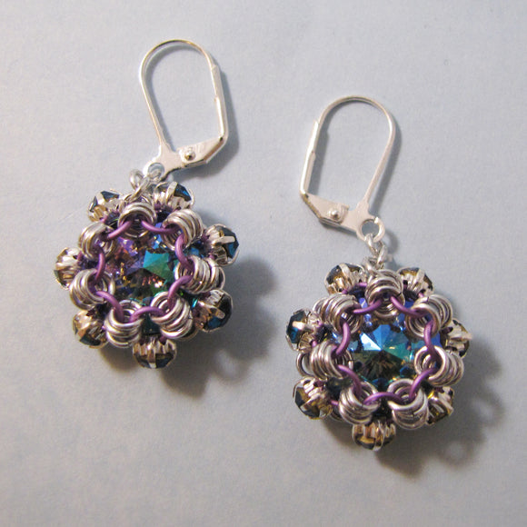 Japanese Simple Austrian Crystal Rivoli & Rhinestone Earrings or Pendant Kit