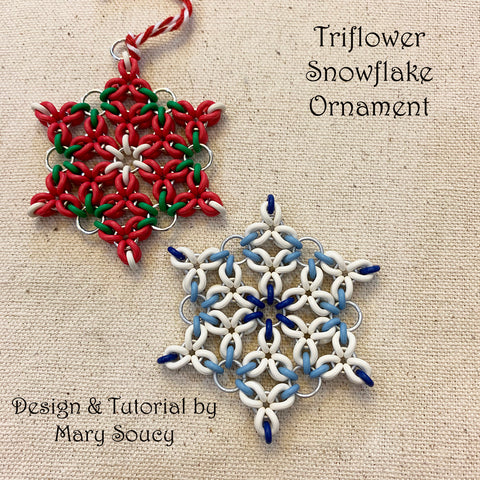 Flower Snowflake Ornament Kit - Choose color