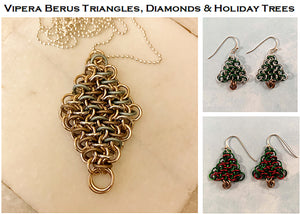 Vipera Berus PDF & Video Tutorial for Triangles, Diamonds & Holiday Trees