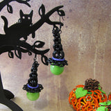 Inverted Round Halloween Witch Hat Kit- Earrings or Hats Only
