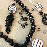 All Locked Up Kazuri Necklace Kit - Black & White