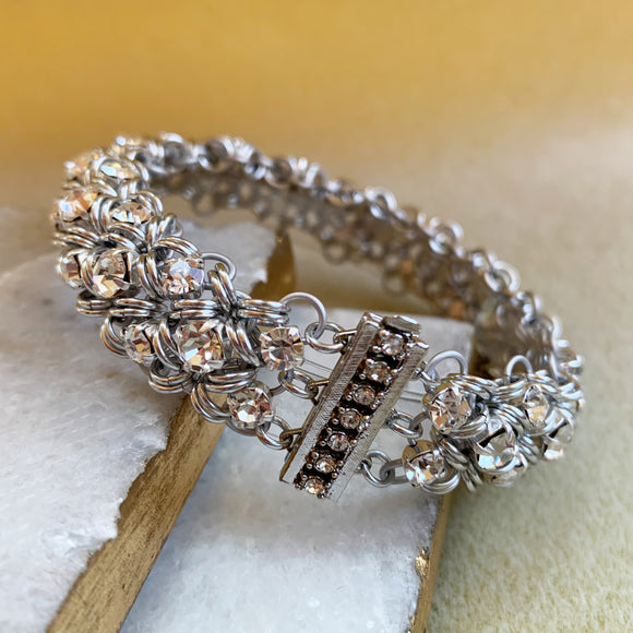 Singles & Doubles Preciosa Rhinestone Bracelet with Video Tutorial