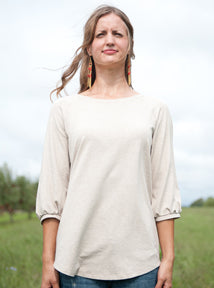 MOVING: Picnic Top in color OAT, S, L, XL, 2X, 3X