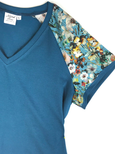 LAST ONES #1912 Teal-icious V-Neck, M, L