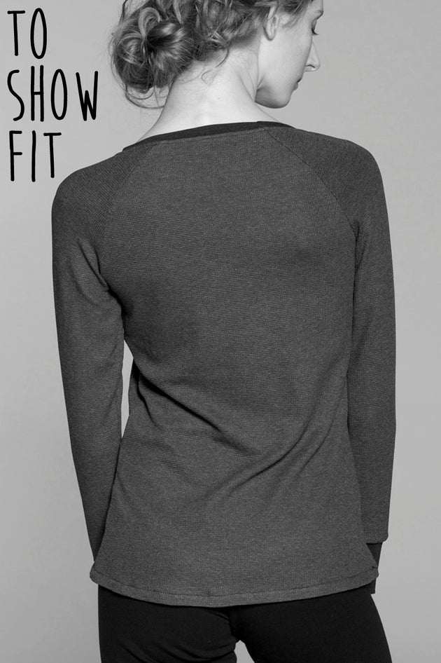 Slim Fit Long Sleeve Top in Rayon/Spandex