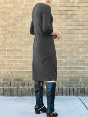 Slim Fit Knit Dress, Longer