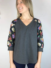 "LAST ONES ""For Kathy"" V-Neck 3/4 Sleeve, XS, S"