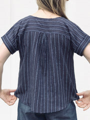 Azure Eyelash Short Sleeve Blouse