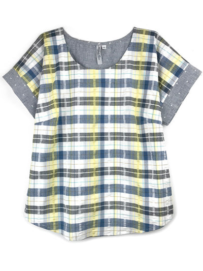 LAST ONES: Simpatico Short Sleeve Blouse, XS, S, L
