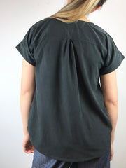 MOVING: Mock Silk Blouse, S,