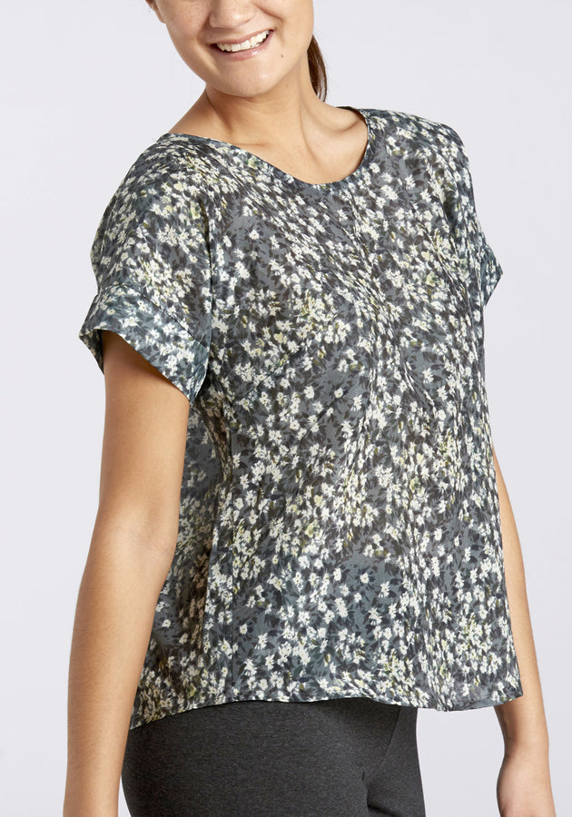 Organic Cotton & Silk Tinyflowers Top