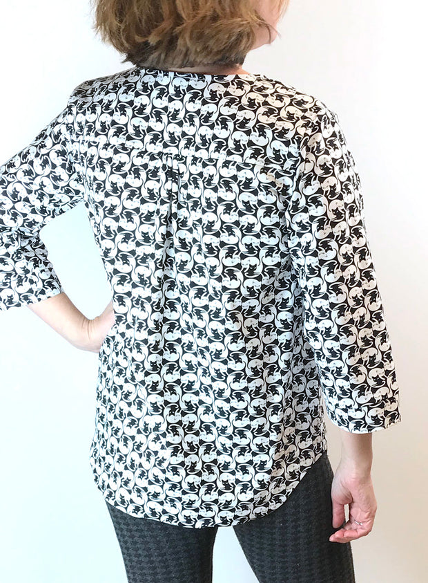Meow 3/4 Sleeve Blouse
