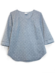 "LAST ONES: ""Foggy"" Cotton/Linen blouse, S"