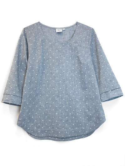 "LAST ONES: ""Foggy"" Cotton/Linen blouse, S, M, L"