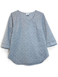 """Foggy"" Cotton/Linen blouse"