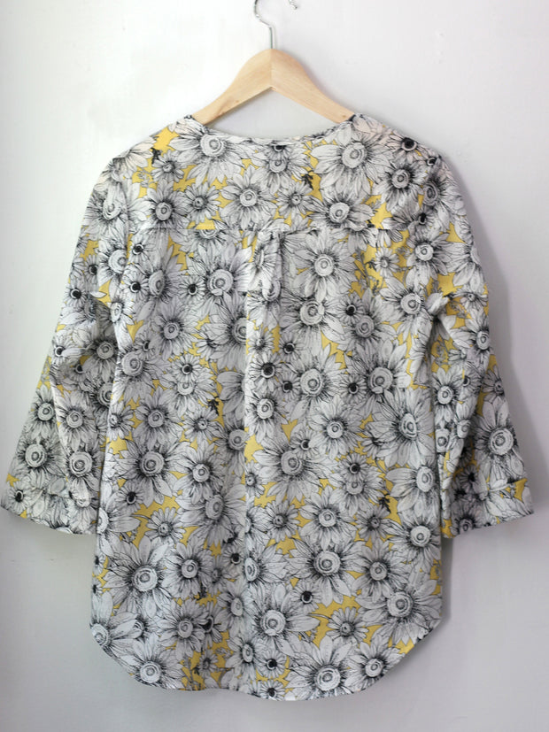MOVING: Sunflower print blouse, all sizes