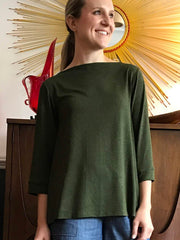 Midsection-y Modern 3/4 Sleeve