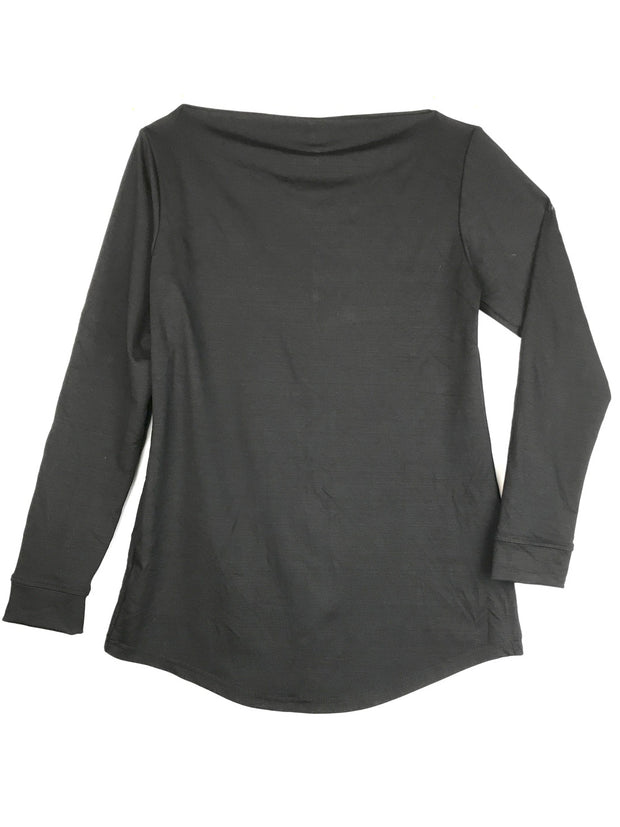Long Sleeve Bateau Picnic Top
