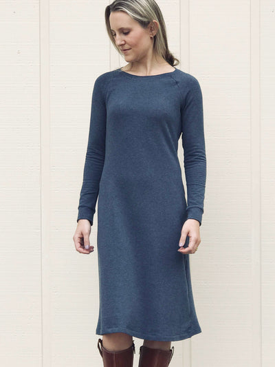 MOVING: Fall/Winter Stretch French Terry Dress, S, L, XL,