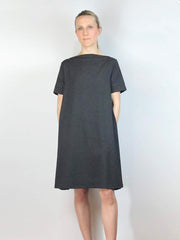 Bateau swing dress, Short Sleeve