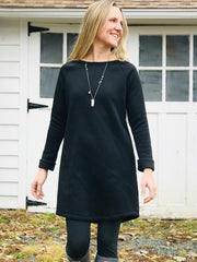 Sweatshirt Dress, Black