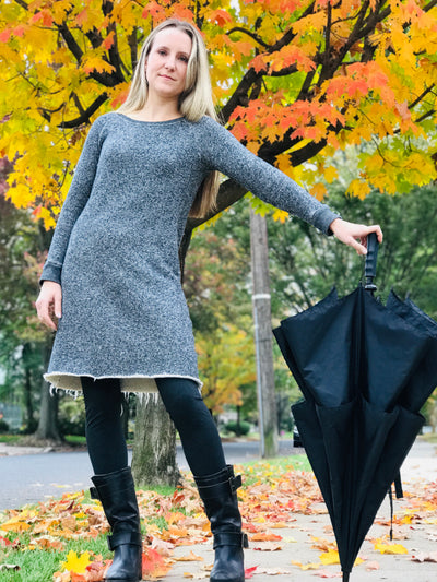 LAST ONES: Raw Hem Sweaterdress, S, M