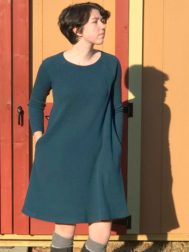 Organic Thermal Waffle Swing Dress