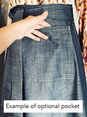 Seasonal Plaid Wrap Skirt, Longer