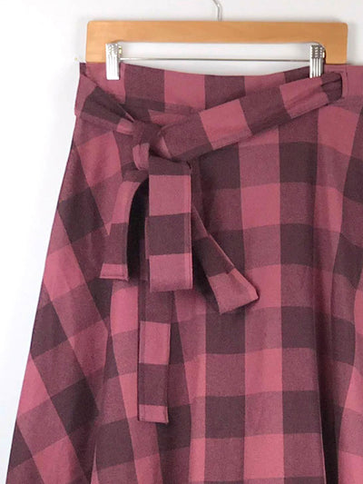 MOVING: Seasonal Plaid Wrap Skirt, Shorter, XS-L