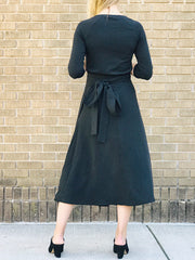 Tencel® Apron Tie Wrap Skirt, Longer