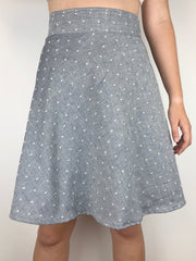 Last Ones: Swiss Dot Apron Tie Skirt, Shorter, S,M,L