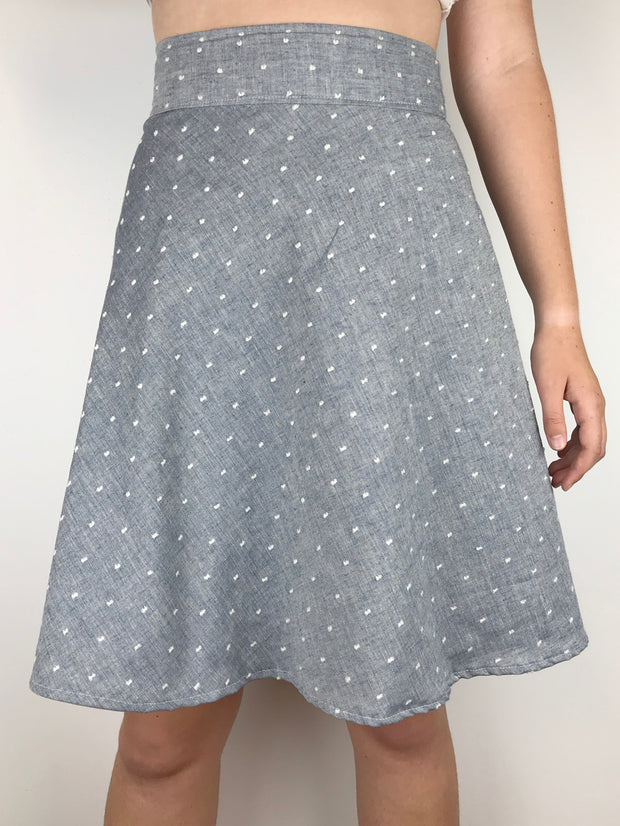 MOVING: Swiss Dot Apron Tie Skirt, Shorter, XS, S, M, L,