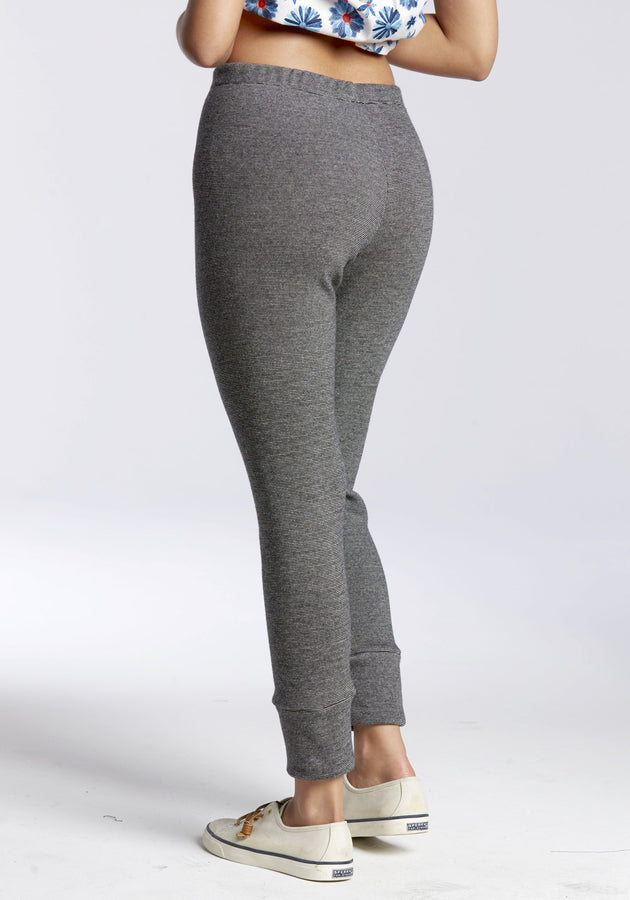 Substantial Ribbed Cotton Leggings