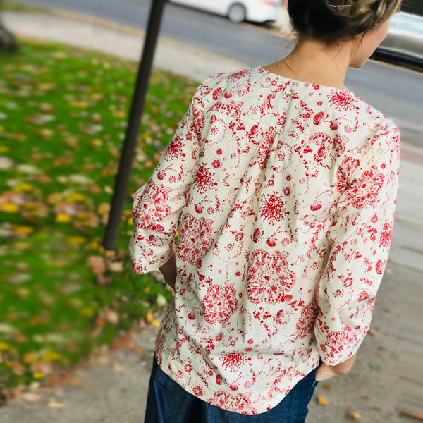 """My Porch Or Yours"" 3/4 Sleeve Blouse"