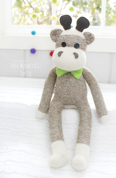 Sock Monkey Giraffe Doll